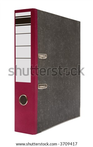 Modern folder for papers on a white background