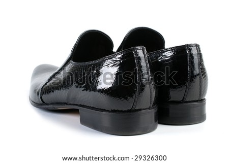 Modern footwear on a white background