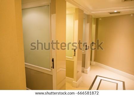 Modern Four Room Water Closet Open The Door Toilet Lavatory Ez