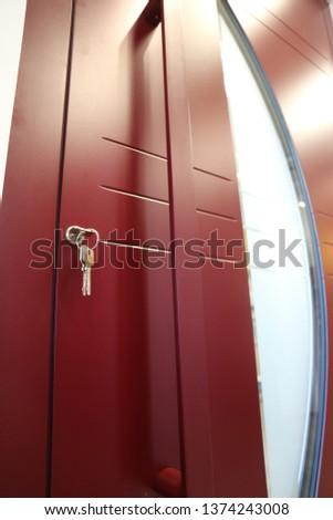 Modern front door with front door keys