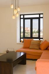 Modern furniture set in living room