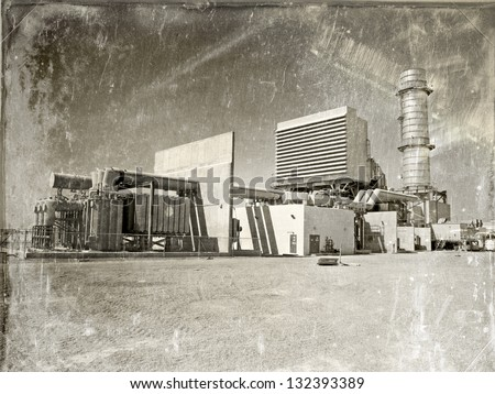 stock-photo-modern-gas-fired-power-plant-made-to-look-vintage-depicting-how-today-s-modern-technology-is-132393389.jpg