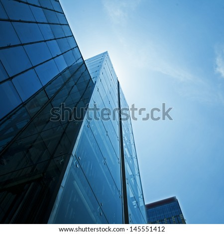 Modern glass building exterior #145551412
