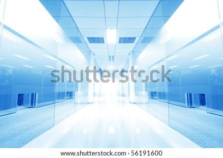 modern glass Corridor