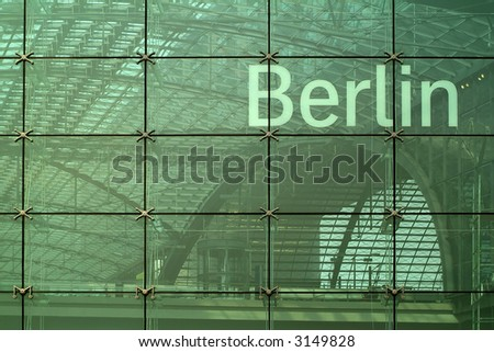 modern glass facade in Berlin