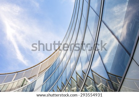 Modern glass office building. #293554931