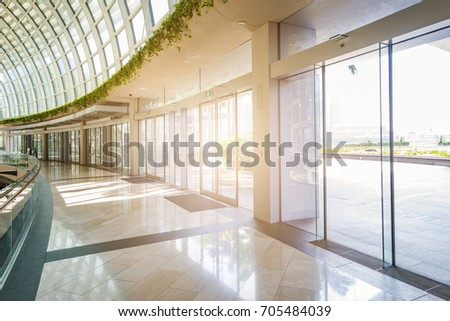 Modern glass wall of office building #705484039