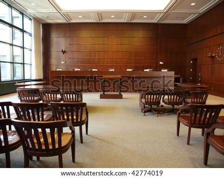 Modern governmental hearing room in a large North American City. - stock photo