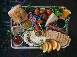 modern grazing board cheese board