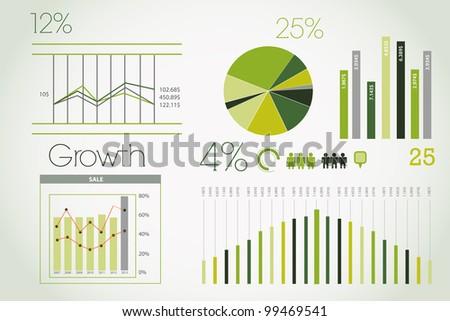 Modern green infographic