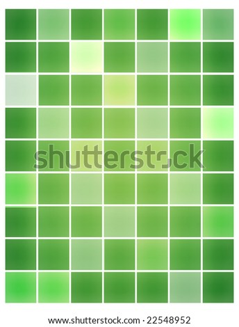 Modern green tiles background
