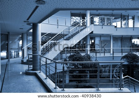 modern hall inside office centre
