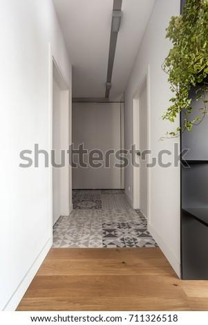 Modern hallway interior #711326518