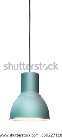 Modern hanging lamp, isolated on white background.