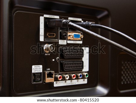 Modern HDMI TV Audio Video input Connection Panel