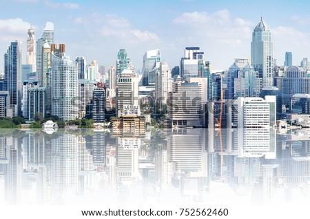 modern high buildings  high...