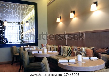 Modern High Class Luxury restaurant and cafe