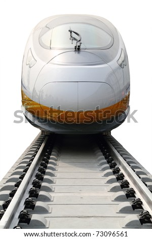 Modern high speed bullet train in China