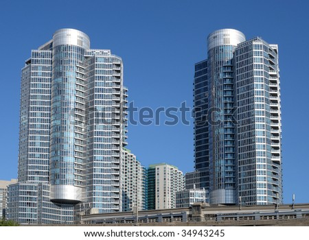 Modern highrise buildings
