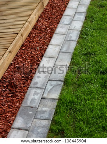 Modern home garden terrace building materials concept