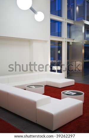 Modern home interior with furniture