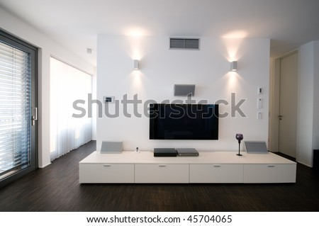 modern home theater interior #45704065