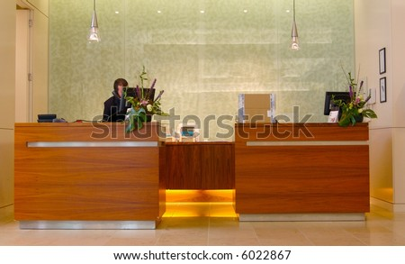 Modern Hotel Reception Desk Stock Photo 6022867 : Shutterstock