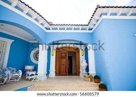 modern house entrance - stock photo