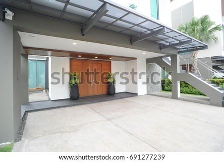 Modern house exterior  #691277239