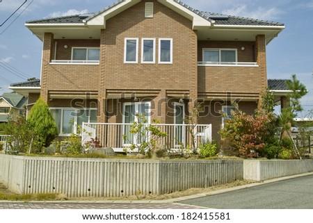 Modern house exterior, Japan