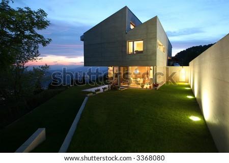 modern house in switzerland