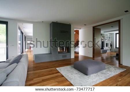 Modern House Interior Stock Photo 73477717 : Shutterstock
