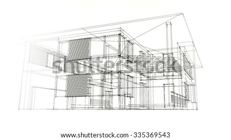 Modern House Wire Frame Ez Canvas