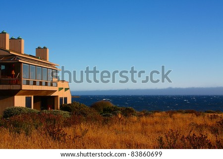 Modern House with View On the Ocean, on the Sonoma-Mendocino coast.