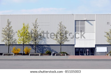 Modern industrial building