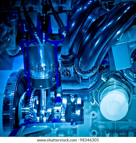 Racing Auto Parts Industry on Modern Industry Auto Car Engine Stock Photo 98346305   Shutterstock