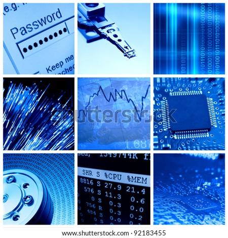 Modern information technologies collage