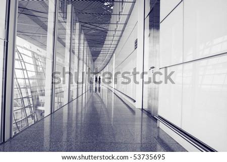 Modern Interior corridors - stock photo