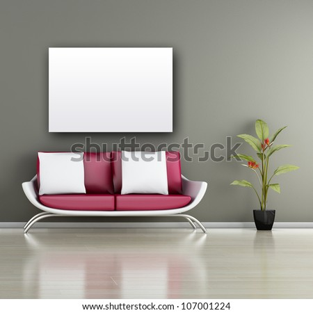 ... (3d Render) - Living Room Stock Photo 107001224 : Shutterstock: shutterstock.com/pic-107001224/stock-photo-modern-interior-d-render...