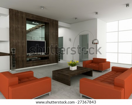 modern interior room with nice...
