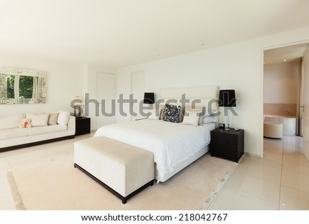 Modern interior design, comfortable bedroom #218042767