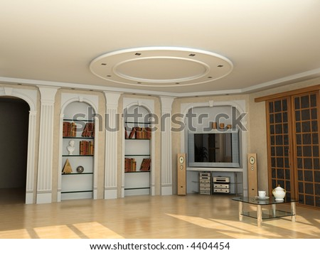 Interior Design In Classic Style Private Apartment D Rendering 4404454