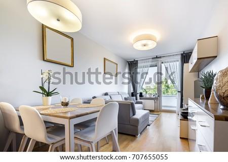 Modern interior design in small apartment