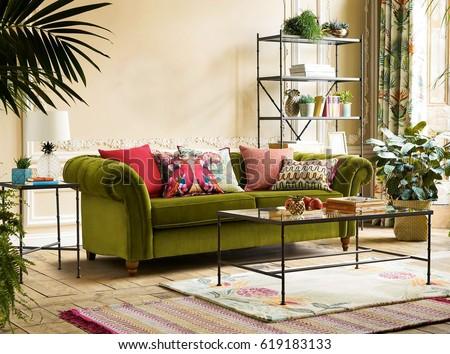 Modern interior design. Interior of Modern Living Room