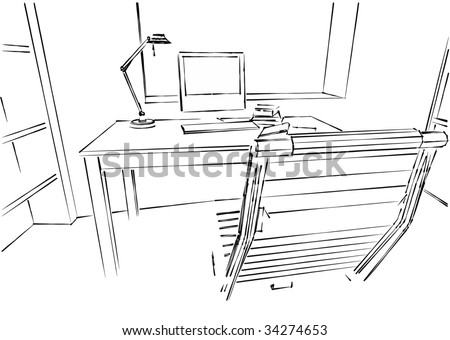 Interior Design Office Sketches