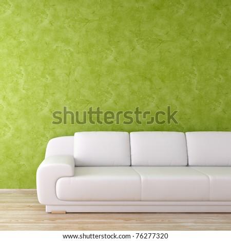 Modern interior green square background - more variations in portfolio