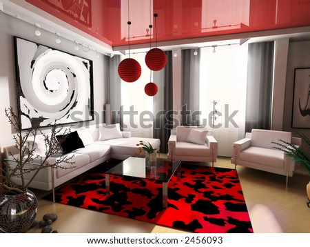 Modern, interior, house, dwelling, design, technology, 3d