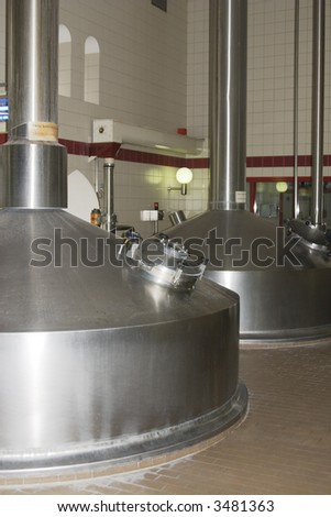 modern interior of a brewery
