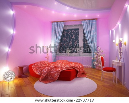 Modern Interior Of A Sleeping Room Stock Photo 22937719