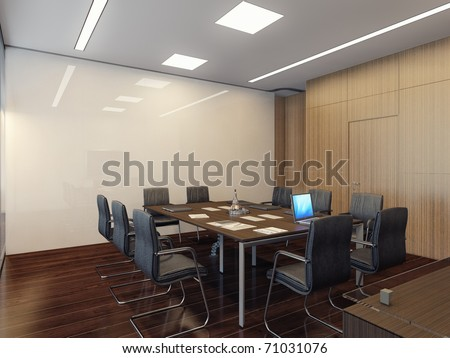 Modern interior of conference room